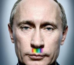 Putin Hitler arcobaleno